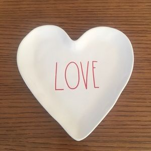 New Rae Dunn Love Heart Plate